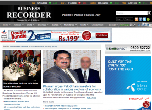 pakistani english news paper online Pakistan times is pakistan's premier website offering breaking news and updates on pakistan politics, business, sports, showbiz, lifestyle along with photo galleries, videos, weather and daily rates updates.