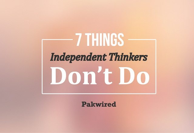 7 Things Independent Th