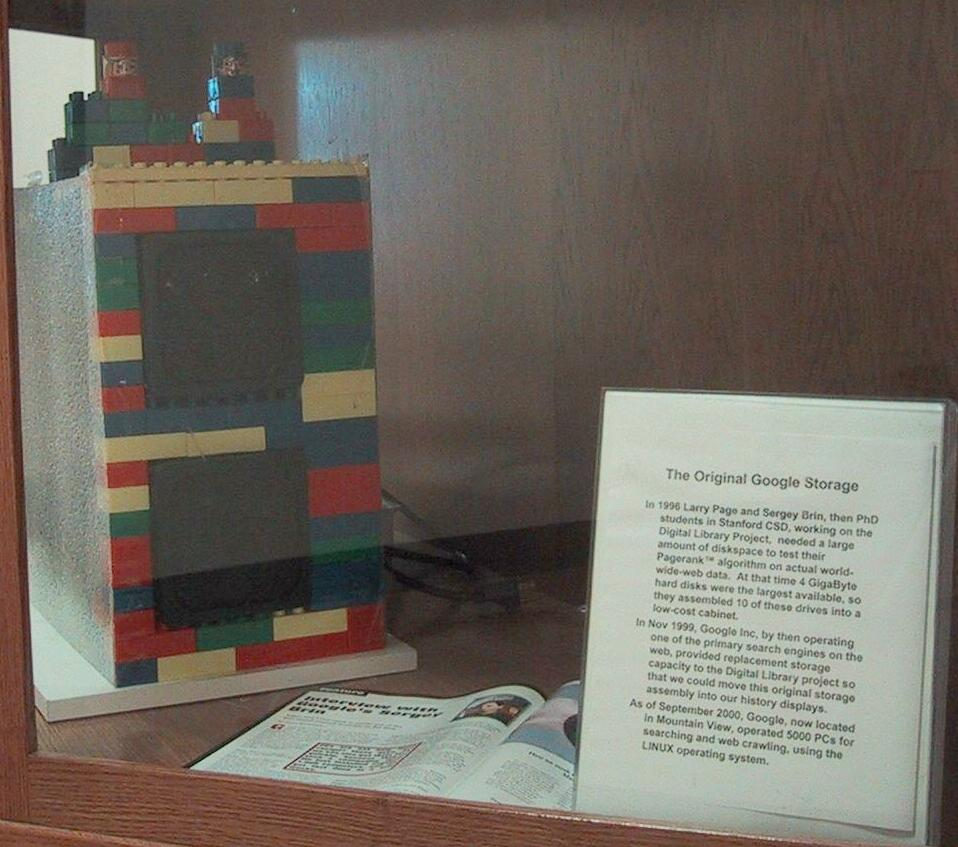 Google's First Computer Storage LEGO