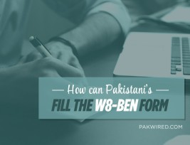 How can Pakistani's fill the W8-BEN form