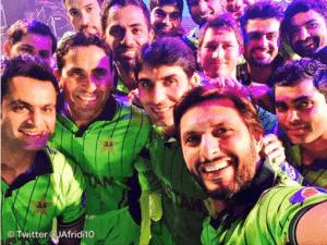 Pakistan cricket team selfie