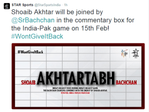 Amitabh Bachchan joins commentary box