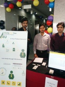 The founders of Verify For You promoting their product