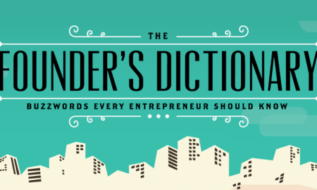 The Founder's Dictionary infographic
