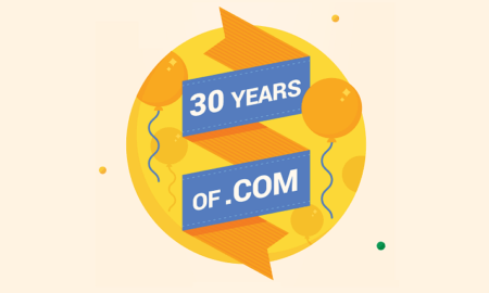 30 years of .com domains