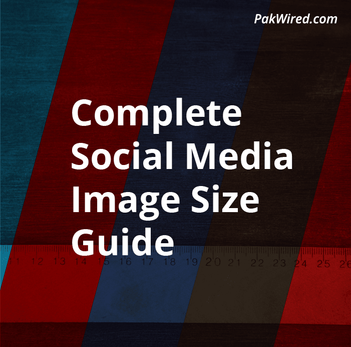 All your optimised social media dimensions in one place