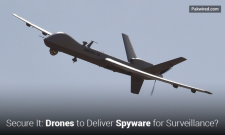 Secure It : Drones to Deliver Spyware for Surveillance?