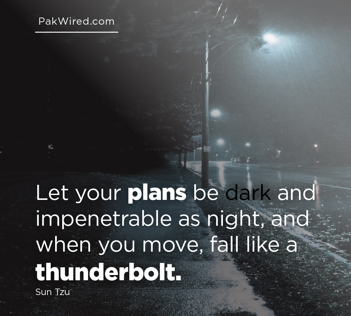 Let your plans be dark and impenetrable as night, and when you move, fall like a thunderbolt-01