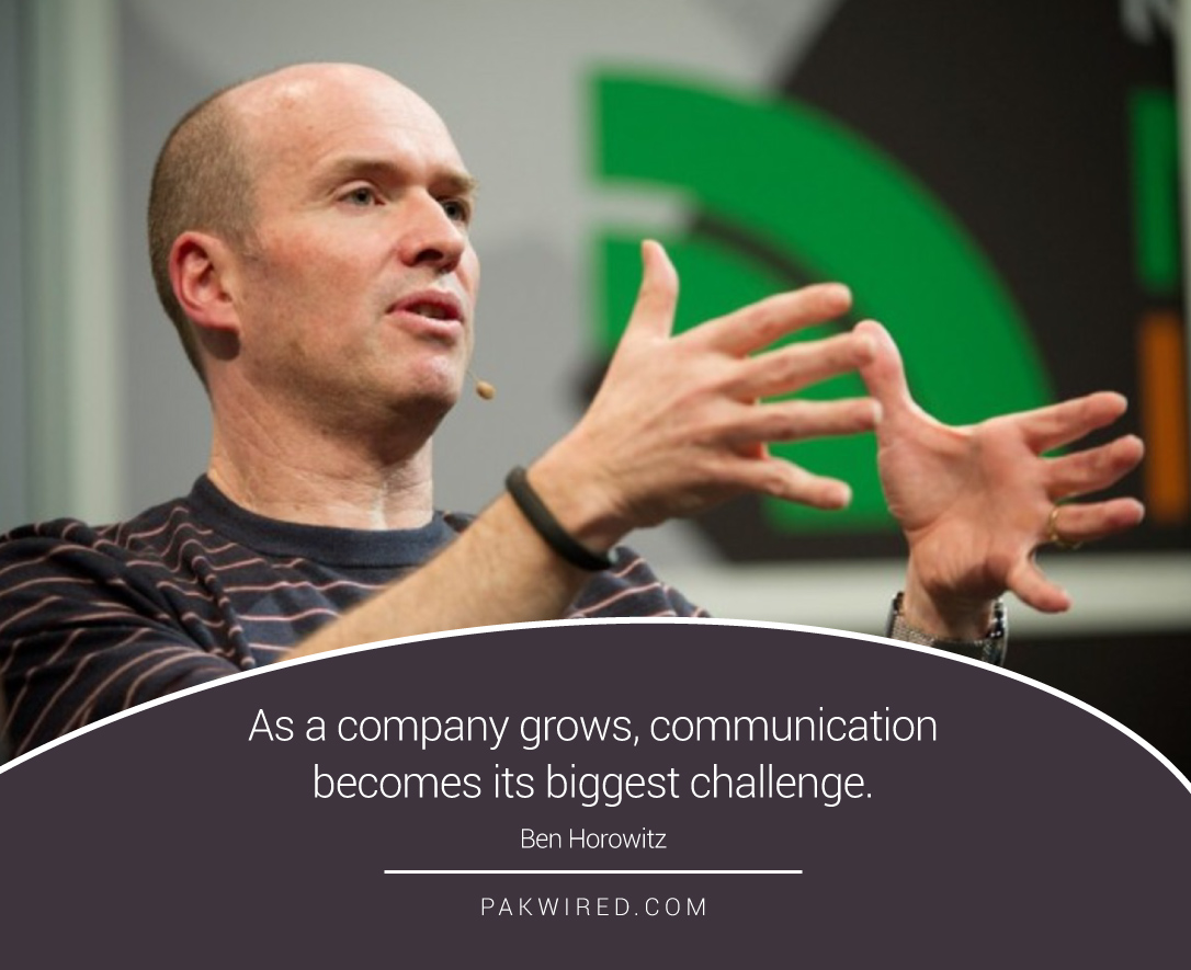 As a company grows, communication becomes its biggest challenge.