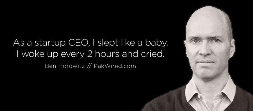 As a startup CEO, I slept like a baby. I woke up every 2 hours and cried.