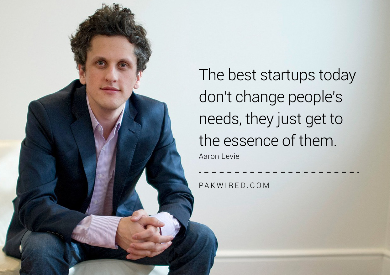 The best startups today don't change people's needs, they just get to the essence of them. Aaron Levie