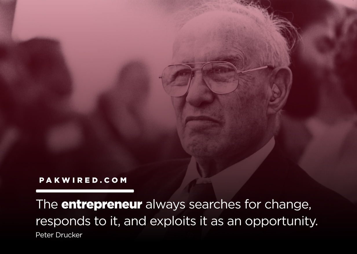 The entrepreneur always searches for change, responds to it, and exploits it as an opportunity.Peter Drucker