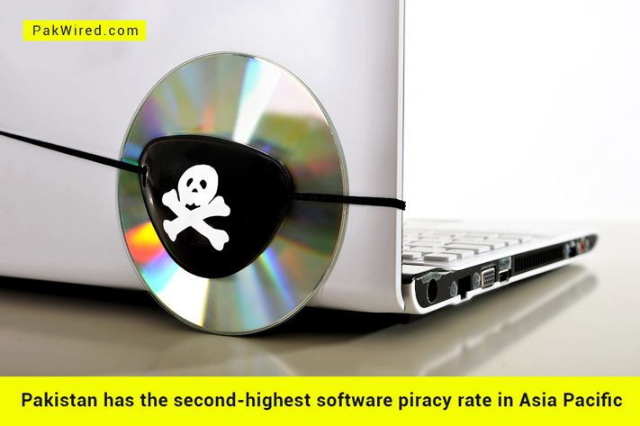 Highest Software Piracy Rates in Pakistan