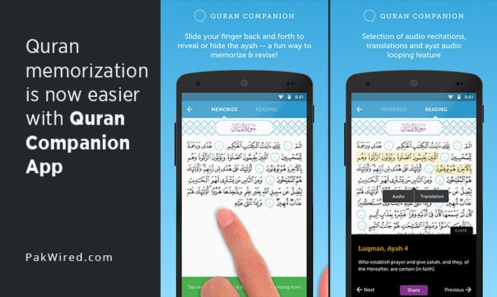 Quran memorization is now easier with Quran Companion App