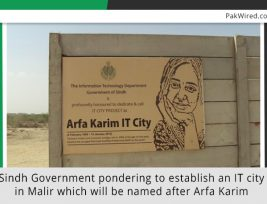 sindh-government-pondering-to-establish-an-it-city-in-malir-which-will-be-named-after-arfa-karim