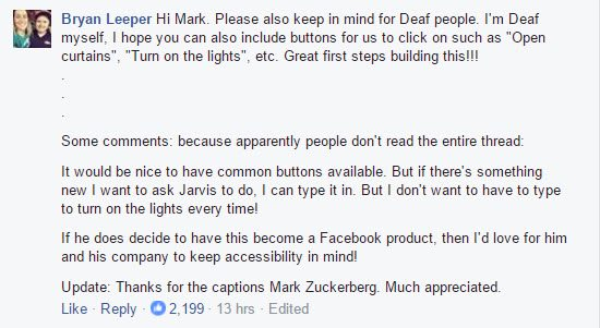 Jarvis Zuckerberg's home automation AI