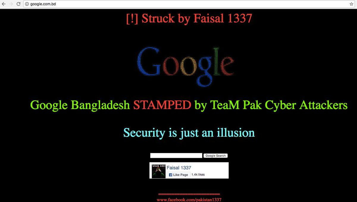 Google Bangladesh Hacked