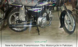 New Automatic Transmission 70cc Motorcycle in Pakistan