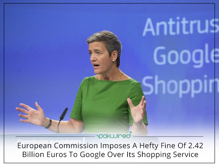 European Union fines Google €2.42 billion for antitrust violation