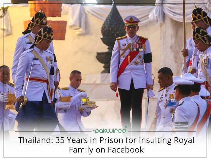 Thailand: 35 Years in Prison for Insulting Royal Family on