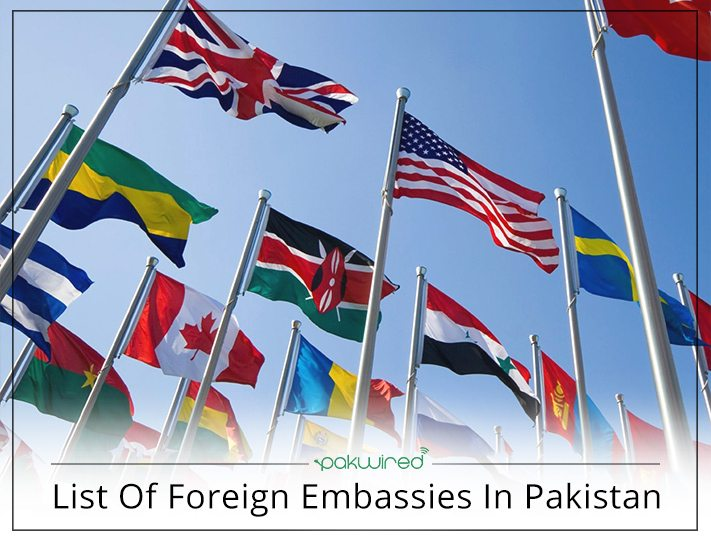 List Of Foreign Embassies In Pakistan