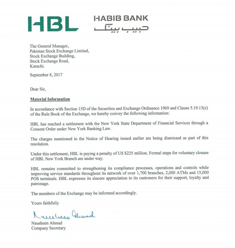 Pakistan's Habib Bank to pay $225m NY  fine