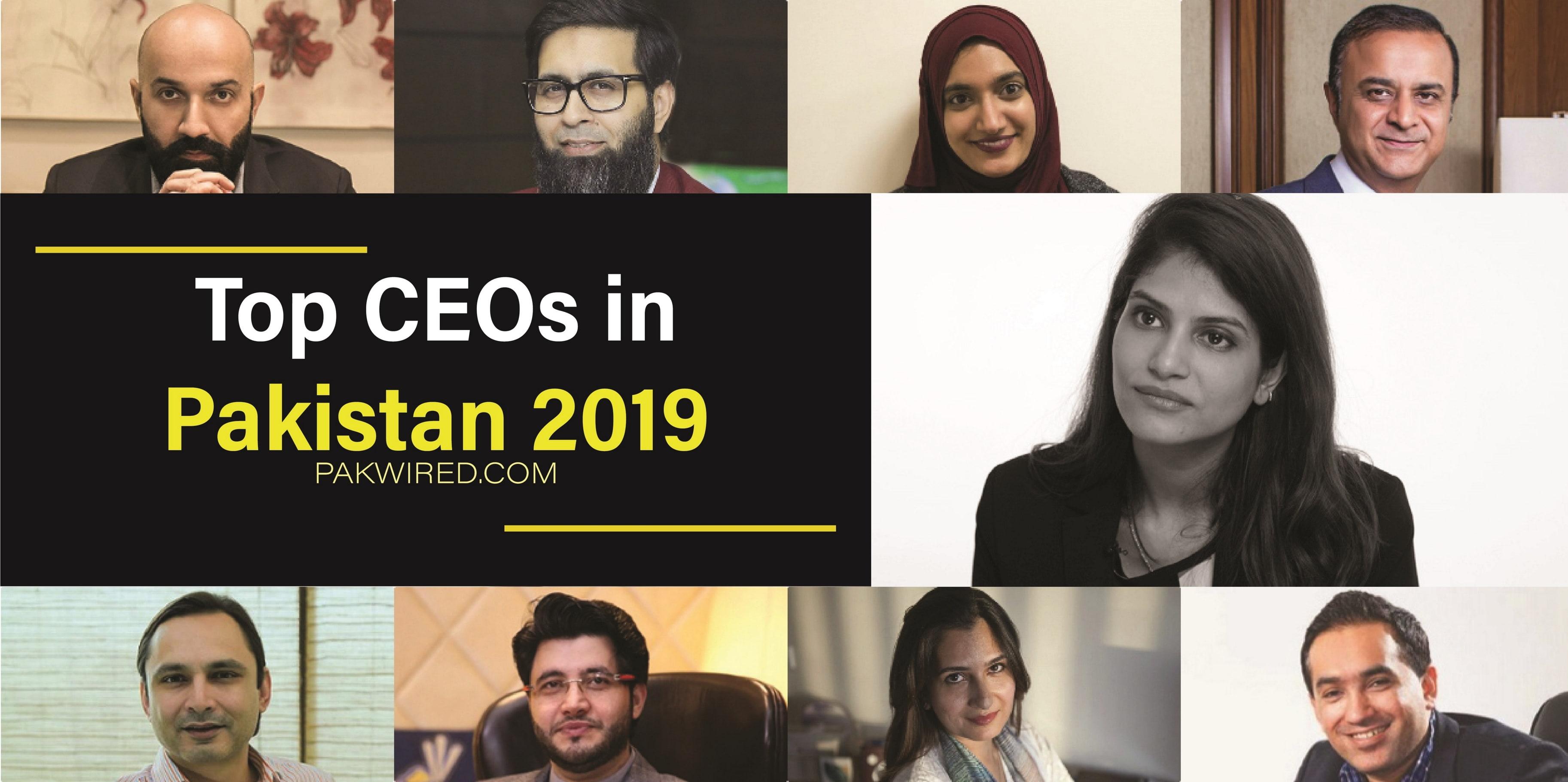 Top ceos in Pakistan 2019