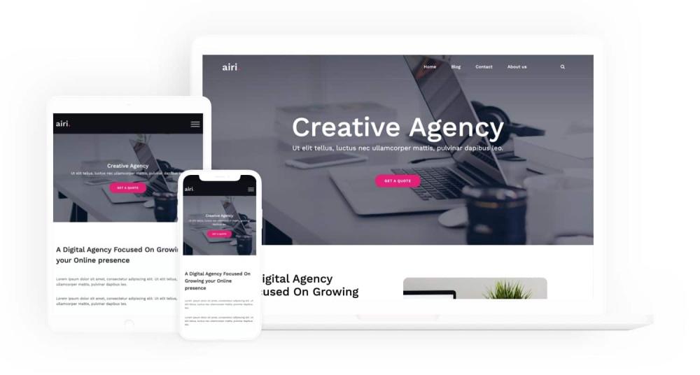 Airi wordpress theme screenshot